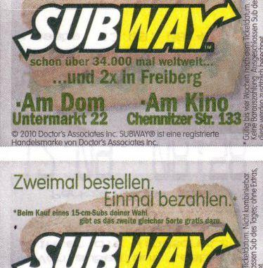 subway gutscheine ausdrucken