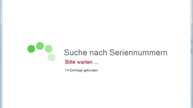 Abelsoft MyKeyfinder - Suche