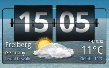Wetter Plus Screen Widget
