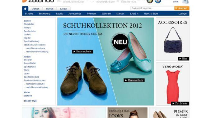Zalando Homepage