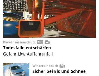 Android App ADAC Motorwelt Top News