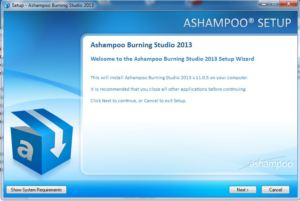 Ashampoo Burning Studio 2013 Setup