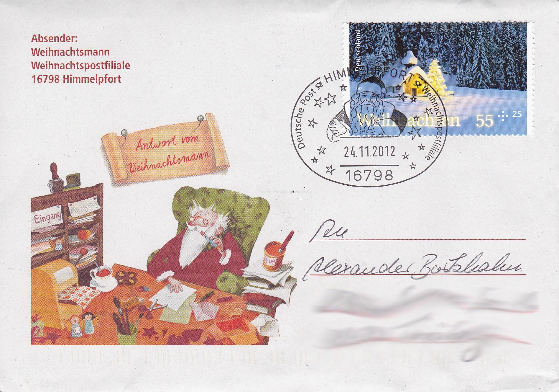 Brief Für Nikolaus : Post vom weihnachtsmann