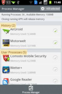 COMODO Mobile Security - Antivirus Free Process Manager