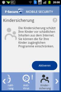 F-Secure Mobile Security - Kindersicherung