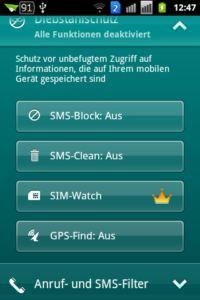 Kaspersky Mobile Security light - Diebstahlschutz