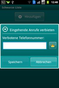 Kaspersky Mobile Security light - Telefonnummerfilter