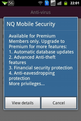 NQ Mobile Security - Updates nur Premium