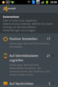 avast! Mobile Security - Datenschutz