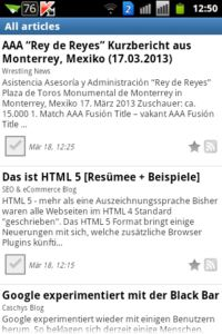 Android Tiny Tiny RSS Reader Alle Artikel