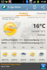 Android Weather Clock Widget APP Screen 1