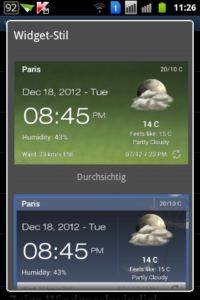 Android Weather Clock Widget APP Screen Witget 1