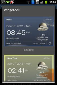 Android Weather Clock Widget APP Screen Witget 2