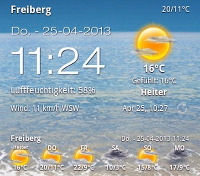 Android Weather  Clock Widget Thumbs