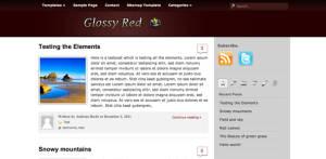 Free Premium WordPress Theme Glossy Red Pro