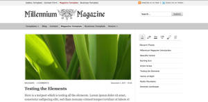 Free Premium WordPress Theme Millennium Magazine