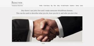 Free Premium WordPress Theme Reduction