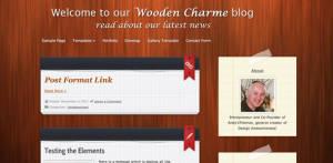 Free Premium WordPressTheme Wooden Charme