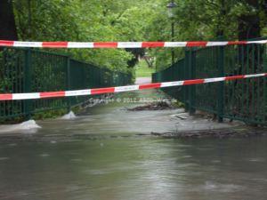 Hochwasser Kreuzteiche Fussweg 2