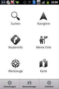 MapFactor Navigator Menu