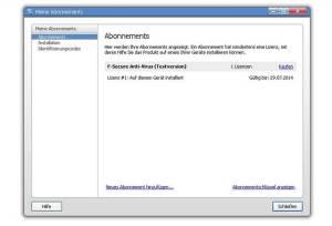 F-Secure Antivirus 2013 - Abonnements Lizens