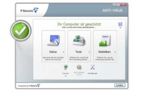 F-Secure Antivirus 2013 - Hauptscreen