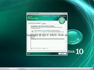 Kaspersky Rescue Disk 10 - Scan