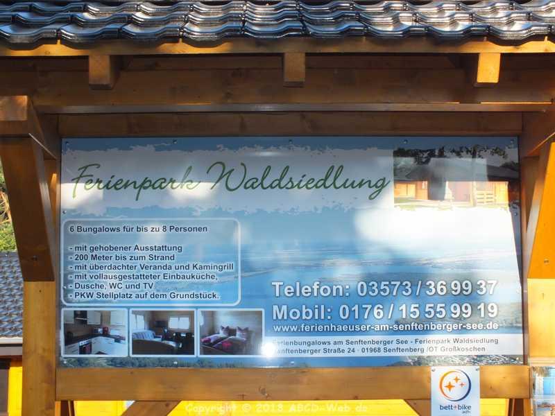 Ferienhaus Senftenberger See - Infotafel