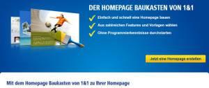 Homepage Baukasten 1und1