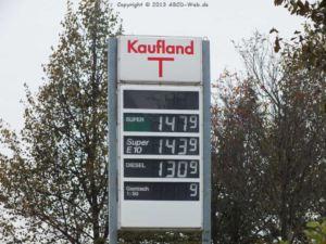 Super Benzinpreis Kaufland Freiberg am 5.10.2013