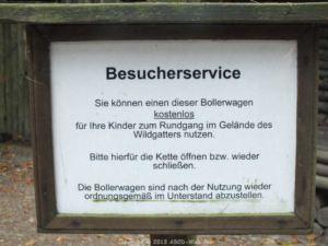 Wildgatter Oberrabenstein - Pollerwagenschild