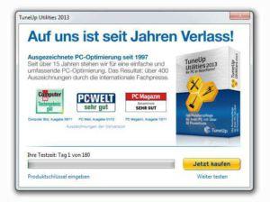 TuneUp Utilities 2013 Lizenz