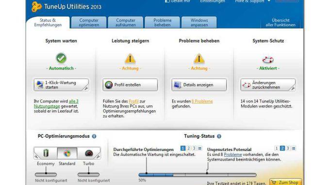TuneUp Utilities 2013 Sceenshot