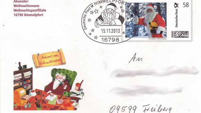 Weihnachtsbrief Himmelpfort Umschlag