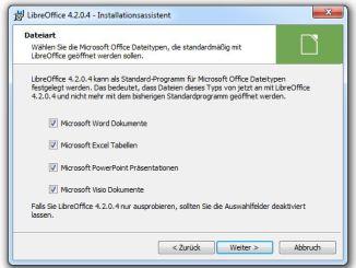 LibreOffice - Installationsassistent