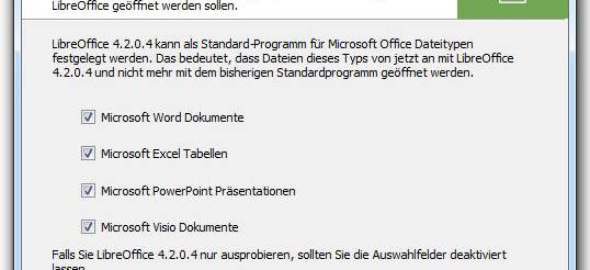 LibreOffice - Installationsassistent