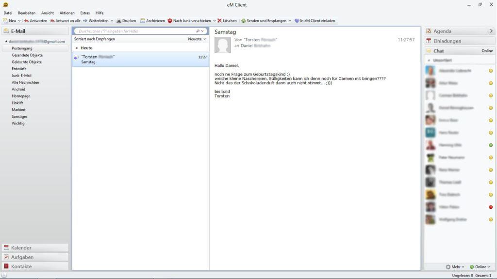eM Client Programm - Email