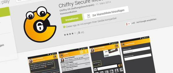 Chiffry Secure Messenger - Sreenshoot Google Playstore