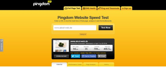 Pingdom Website Speed Test abcd