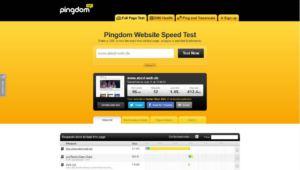 Pingdom Tools Test ohne Cache im Original