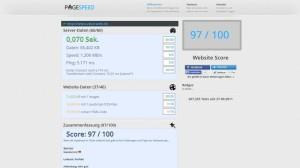 pagespeeddeTest mit Quick Cache Pro