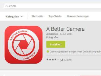 A Better Camera - Google Play Store Screenshot