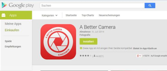 A Better Camera - Google Play Store Screenshot