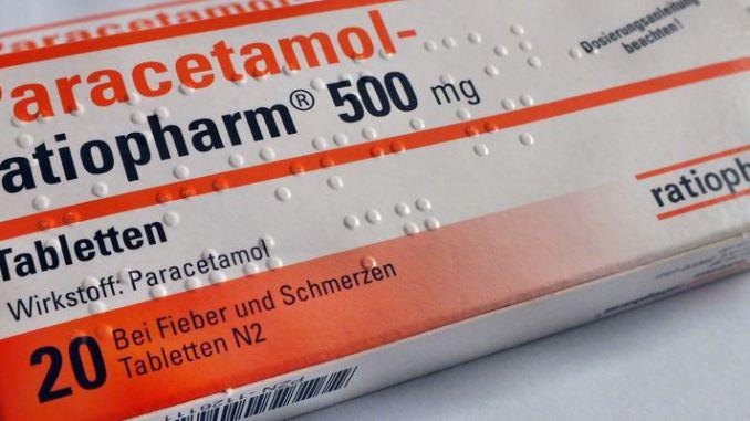 Paracetamol Verpackung 20 Tabletten