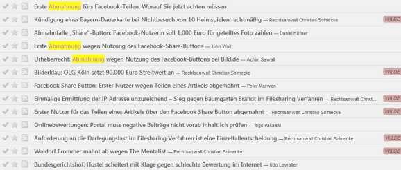 Abmahnung Facebook Bilderklau