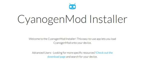 Screenshot: cyanogenmod.org 12.3.2015 - CyanogenMod Installer