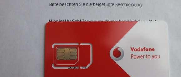 Vodafone normale micro SIM-Karte