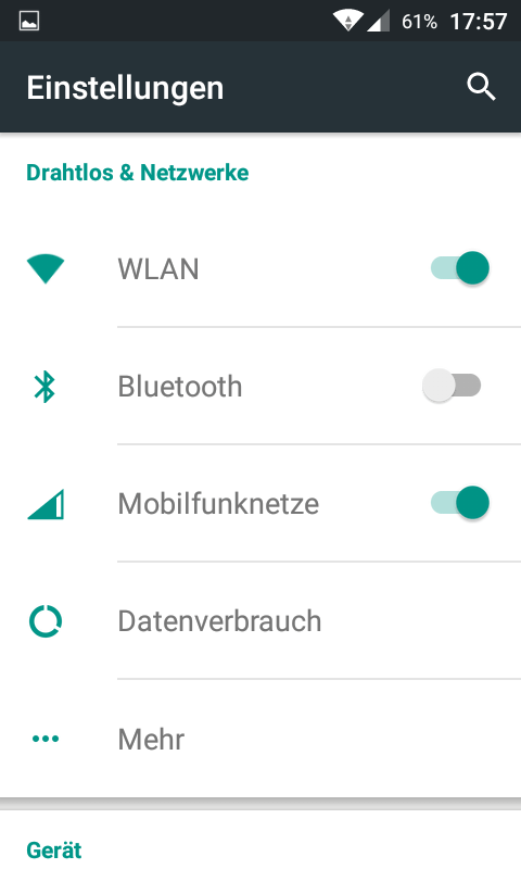 Samsung S2 Android 5.1 CM12.1 Screenshot Einstellungen 1