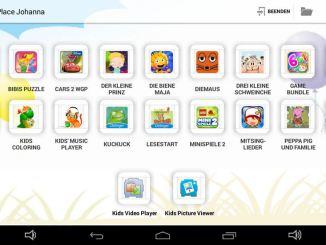 Screenshot Kids Place auf Blaupunkt 4 Kids