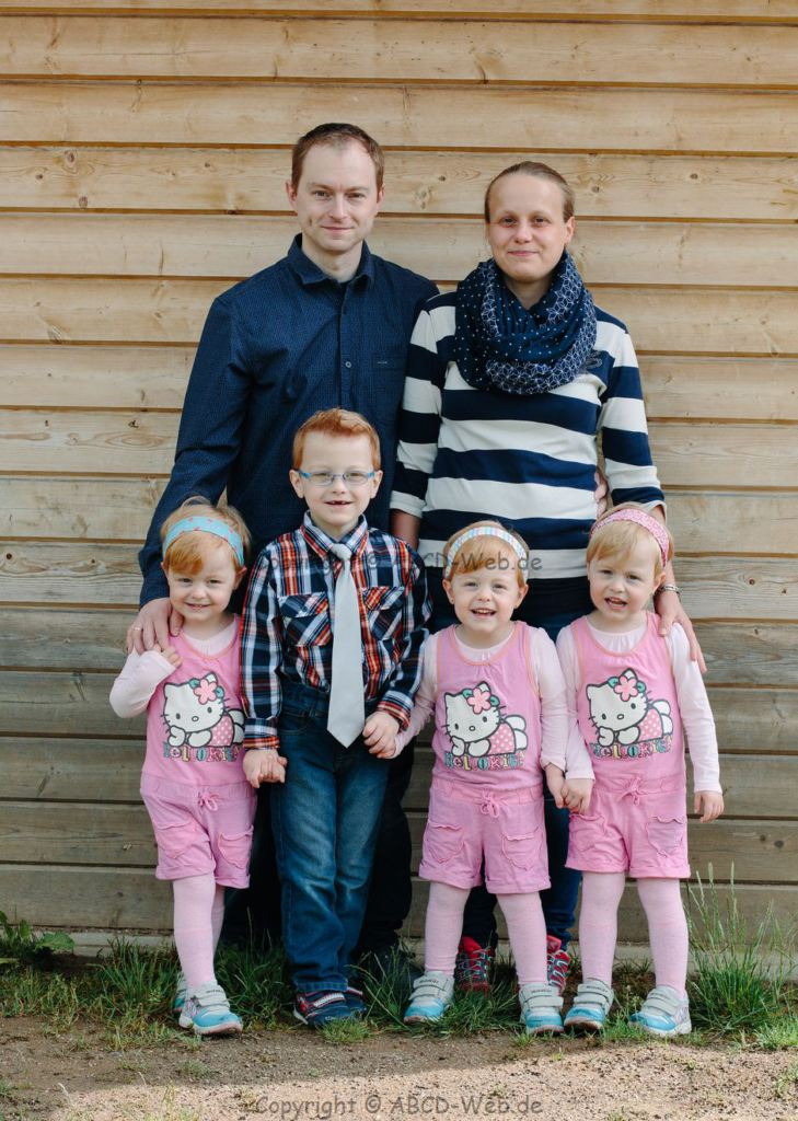 Familie Birkhahn im Sommer 2014 in Freiberg
